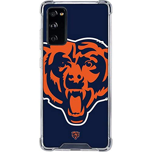 Skinit Clear Phone Case Compatible with Galaxy S20 FE - Officially Licensed NFL Chicago Bears Large Logo Design