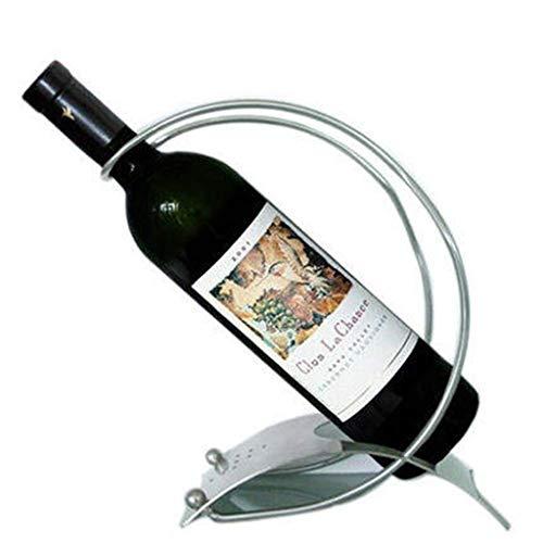 Estante de vino de acero inoxidable, soporte para botellas para decoración creativa, dispositivo de almacenamiento de botellas elegante, muy adecuado para los amantes del vino JIADUOBAO