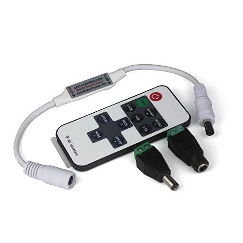 Taikuwu LED Streifen Controller LED Strip Dimmer Kontroller DC 12V-24V Empfänger RF Wireless Remote LED Stripe Fernbedienung Regler für 2 polig SMD 5050 3528 2835 5630 LED Band