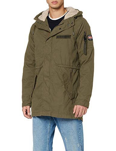 Superdry Herren Winter Aviator Parka, Grün (Deep Depths S6Y), Large