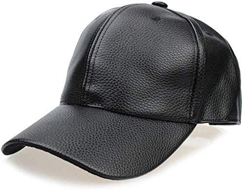 JIAHE115 Baseball Cap Mini Persoonlijkheid PU Baseball Cap Trucker leer herfst winter dames heren hoed