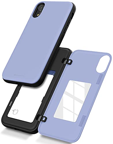 Goospery iPhone XR Wallet Case with Card Holder, Protective Dual Layer Bumper Phone Case (Lilac Purple) IPXR-MDB-PPL