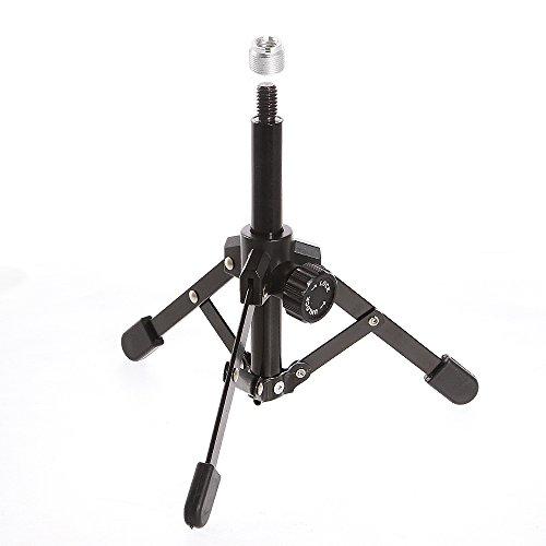 Fotga Metalen Mini Flexibel opvouwbaar bureaublad statief microfoon microfoon standaard houder met 3/8