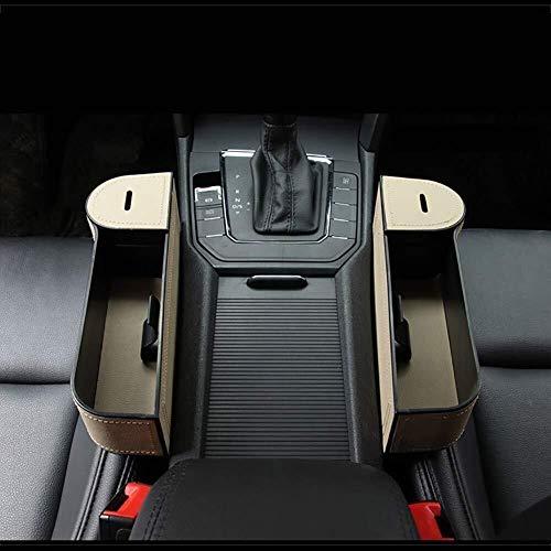 Mmhot-cd Pack 2 Side Pocket Organizer Voiture Coupe Seat Gap Bouteille Organisateur Porte-Monnaie Collector Car Intérieur Accessoires (Couleur : Beige)