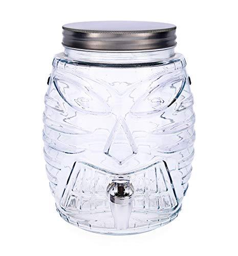 Quid Hábitat Dispensador de bebidas con grifo, Vidrio, 5 Litros
