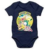 Shirtracer Enchantimals Baby - Harvest Hills - Fluffy Bunny - 6/12 Monate - Navy Blau - Fluffy Bunny & Mop - BZ10 - Baby Body Kurzarm für Jungen und Mädchen