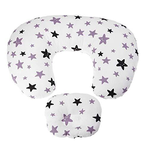 2 piezas de almohada de lactancia para bebés maternidad almohada de lactancia en forma de U almohada de cintura abrazo almohadilla de alimentación de algodón