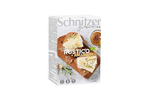 Schnitzer GLUTENFREE Brote Rustico mit Amaranthmehl glutenfrei, 4er Pack (4 x 500 g)