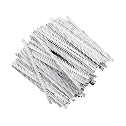 fiosoji 100 Pc Pince-Nez en Aluminium Réglable Pont, Auto-Adhésif,Bricolage DIY Faits Main, pour La Bande de Pont de Nez Bande Artisanat Clip Faire Accessoires