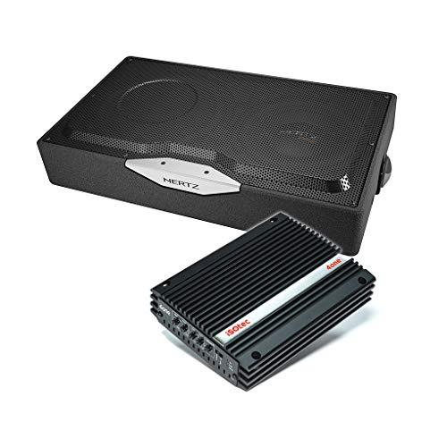 I-SOTEC Auto/KFZ Plug & Play Upgrade Soundsystem (Subwoofer+Endstufe) ISOR kompatibel für OPEL