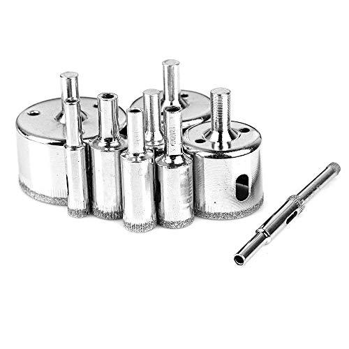 CLJ-LJ 6-50mm diamante recubierto Core agujero consideró Brocas herramienta del cortador de baldosas de mármol de cristal granito perforación 10PCS / Set