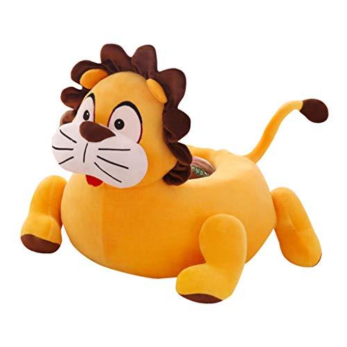 perfeclan Chaise Étui pour Enfant Animal Motif – Sacs de Haricots Intérieur ou extérieur – Fauteuil Jardin Pouf Housse - Lion (Jaune)