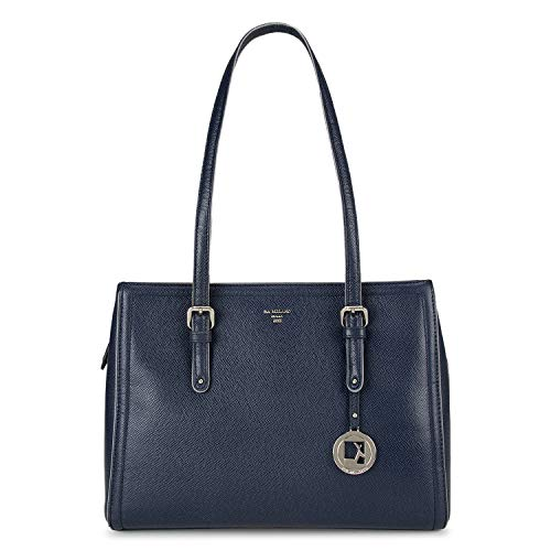 Da Milano Genuine Leather Blue Ladies Tote Bag