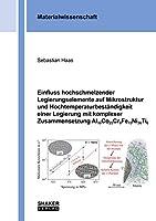 Einfluss hochschmelzender Legierungselemente auf Mikrostruktur und Hochtemperaturbestaendigkeit einer Legierung mit komplexer Zusammensetzung Al10Co25Cr8Fe15Ni36Ti6
