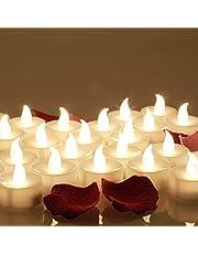 24 Velas LED, Más de 100 Horas de Iluminación y Decoración de Pétalos de Rosa, Velas Electrónicas con Baterías Incorporada, Perfectas para San Valentín