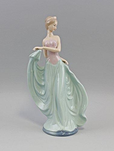 Porzellan-Figur Tänzerin bicolor Kleid