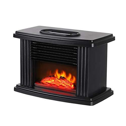 Elektrokamin Elektro-Kamin Freistehend Ventless Kamin Heizung Mit Thermostat Corner Kamin 3D Flamme Spiel Gehärteten Glas Elektroheizung Fireplace22.4x15.25x12cm Kamineinsatz Standkamin