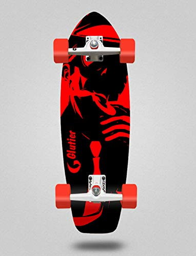 Glutier Surfskate Complete with SGI Sakari Surf Skate Trucks - Mafia Red 31