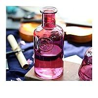 花器 家の装飾のためのガラスの花瓶のためのガラスの花瓶の植物の花瓶のデスクトップ新鮮な花の貯蔵の瓶の花の容器jar 装飾花瓶 (Color : Purple H)