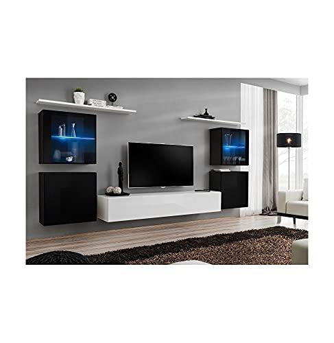 ASM Ensemble TV - 6 éléments - Noir et Blanc