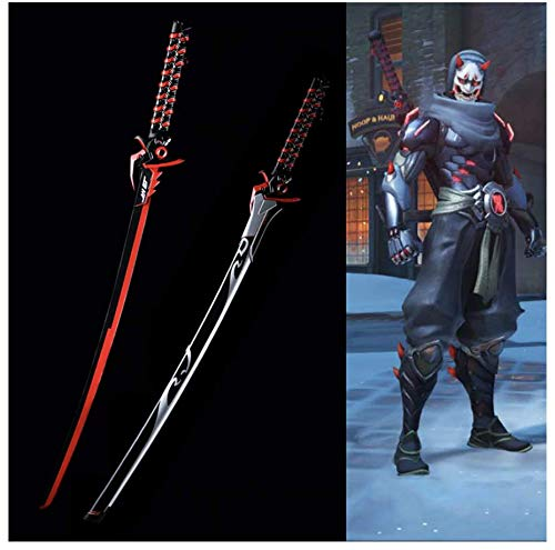 for Over Watch Cosplay Props Replica Genji Oni Skin Blade Real Steel Fantasy Katana Supply Decorative Sword No Sharp
