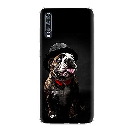 Francés Bulldog Dog Animales para Samsung A50, A10, A20E, A51, A10, A20S, A30S, A40, A50S, A70, A71, funda para Samsung A6, A7, A8, J7, A114 (3)-A40