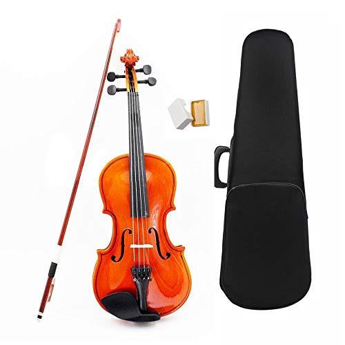 YINGGEXU Violín eléctrico violín 1/8 tamaño Violín acústico con estuche fino Puente...