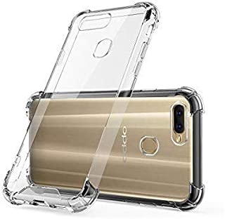 Amagav Transparent Silicone Soft Mobile Back Cover Compatible For Oppo A7 & A5S & A12 & A11K