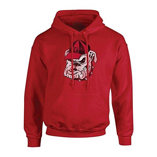 Elite Fan Shop Georgia Bulldogs Hooded Sweatshirt Vintage Icon Red - X-Large