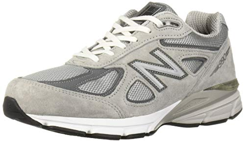 New Balance Men's Made 990 V4 Sneaker, Grey/Castlerock, 12 XXW US