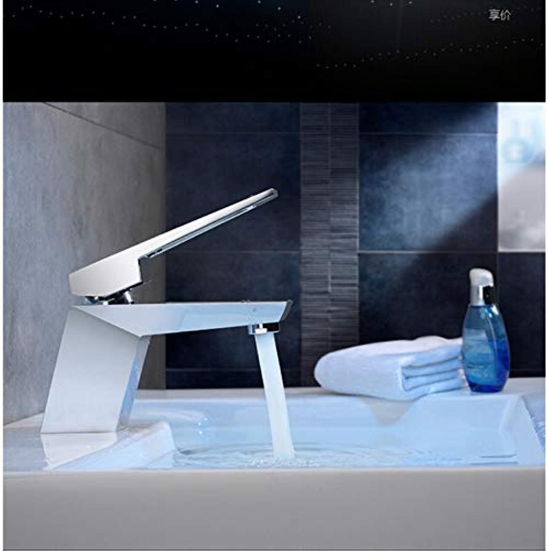 Lddpl Einzigartiges Design Messing Quadrat Chrom Warm Und Kalt Einhebel-Waschbecken Wasserhahn Waschtischarmatur