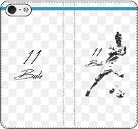 【全機種対応】 iPhone/Xperia/Galaxy/他機種選択可:サッカー/グラフィティ/へのへのもへじタッチ手帳ケース(デザイン:マドリッド/11番_02) 01 iPhone5/5s/SE