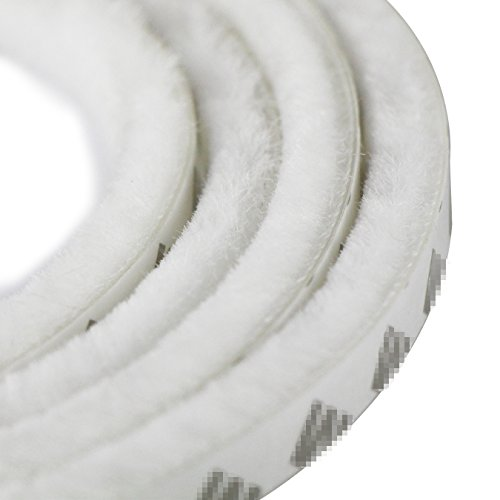 Uooom 5 m antivento antipolvere porta finestra guarnizione striscia autoadesiva Brush strip 9 x 15 mm