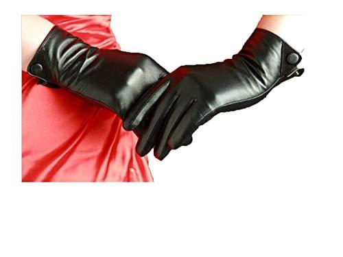 BOLAWOO-77 Dam sida öppet handskar tjockare män varmt ride mode märken vattentäta utomhus läderhandskar vantar vantar