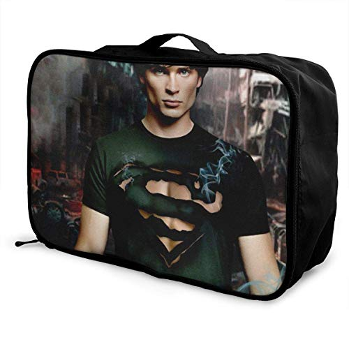 Smallville Travel Lage Duffel Bag Lightweight Suitcase Portable Bags for Women Men Kids Waterproof Large Bapa Caity