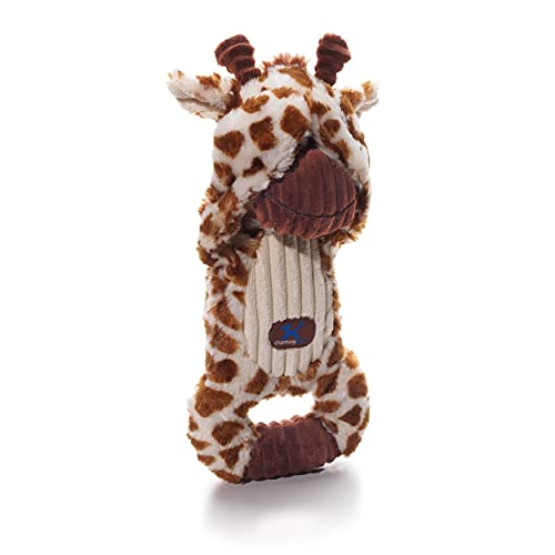 Charming Pet Peek-A-Boos Giraffe Plush Squeaky Squeeze-Action Dog Toy