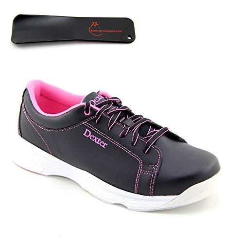 Damen Bowlingschuhe Dexter Raquel V schwarz pink inkl. Schuhanzieher (39.5)