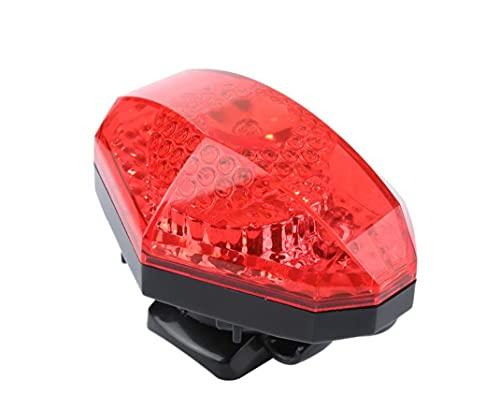 YCDtop Luz Trasera de Bicicleta Ciclismo 3 LED Resaltado Corazón Rojo Luces traseras Impermeable Advertencia de Seguridad de conducción Luz Trasera Lámpara Trasera de Bicicleta