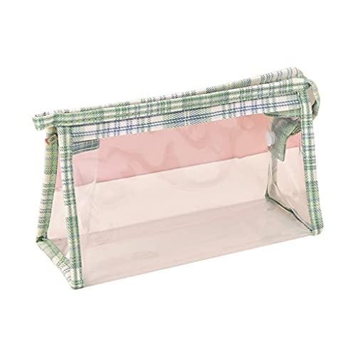 Klare Federtasche, Federmäppchen mit großer Kapazität, wasserdichte Make-up-Kosmetiktasche, tragbare Schreibwaren-Halter-Tasche