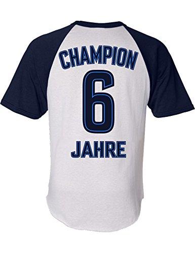 Geburtstags Shirt: Champion 6 Jahre - Sport Fussball Trikot Junge T-Shirt für Jungen - Geschenk-Idee zum 6. Geburtstag - Sechs-TER Jahrgang 2015 - Fußball Club Fan Stadion Mannschaft (128)