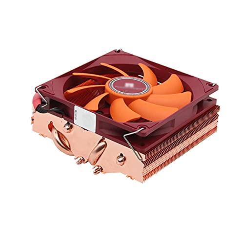 WYH Enfriador de CPU de bajo perfil con 4 heatpipes CPU enfriador de aire push-pull con aletas de enfriamiento de cobre puro y ventilador PWM 90 mm ventilador silencioso