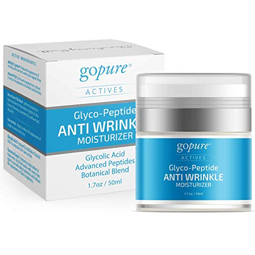 GoPure Anti Wrinkle Cream for Face and Eye Cream with Proven Ingredients - Glycolic Acid, Hyaluronic Acid, Botanical Blend – Smooth Rough Texture, Skin Firming, Wrinkle Filler, Anti Aging Cream