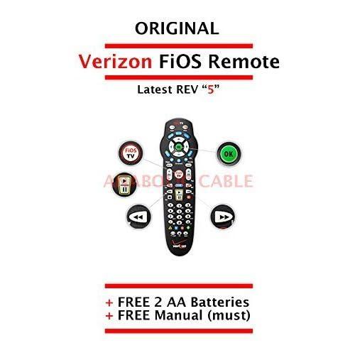 Amazon com: Original Verizon FiOS Remote Control Version 5 + Free