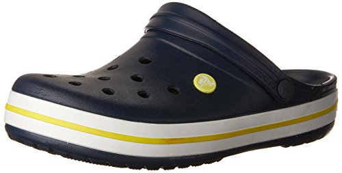 Crocs Crocband, Zuecos Unisex Adulto, Azul (Blue/Yellow), 37/38 EU