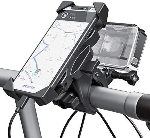 ESHOWEE Universal Fahrrad Handyhalterung Anti Shake für iPhone 12 Pro Max, 11 Pro Max, Xs Max, XR, 8, 7, 6S, Samsung S10 S9 S8,Powerbank - 360° Drehen Handyhalter für Fahrrad, Motorrad(4-6.5 Zoll)