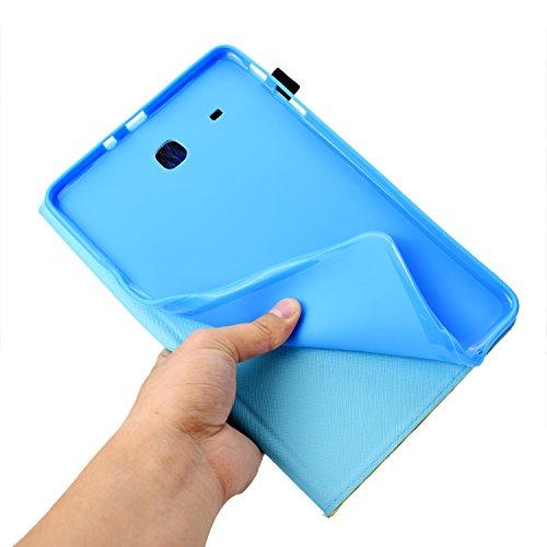 XTstore Hülle für Samsung Galaxy Tab A6 7.0 (SM-T280/T285), Schmetterling Muster Schutzhülle Stoßfest Case Ständer Cover Magnetisch Leder Tasche mit Kartenfacher für Samsung Tab A 7 Zoll 2016