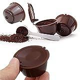 ZPFQFC 4pcs Capsule Coffee Filter, Filtro de Taza Reutilizable para NESESFE Soporte de Taza de café Recargable de Nescafe POD Strainer con 1 CÁNCULO DE Limpieza 1 Cuchara de plástico