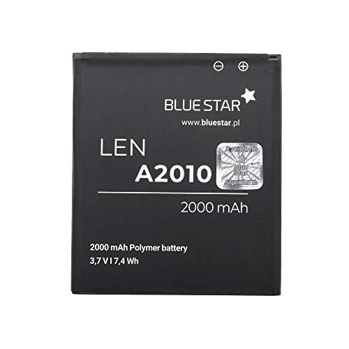 Blue Star Premium - Li-Ion Lithium Akku 2000 mAh Kapazität Schnellladung 2.0 Kompatibel mit dem Lenovo A2010 / A1000