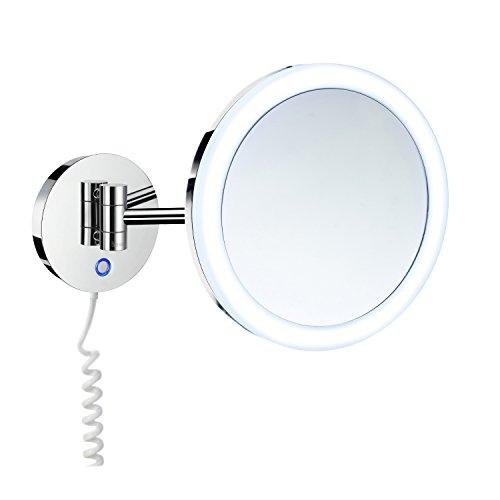 Smedbo Kosmetikspiegel FK486E Duallight 7 Fach Vergrößerung