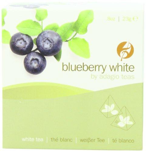 Adagio Teas Gourmet Tea Bags, Blueberry White, 15 Count